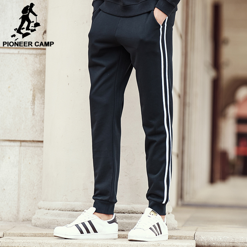 Pioneer Camp black sweatpants men brand clothing top quality male pants with stripe autumn spring trousers 622194