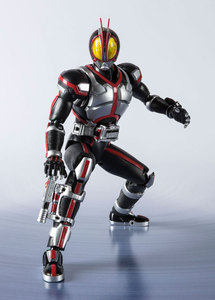 "Image 4 - ""Kamen Rider Faiz"" oryginalny BANDAI Tamashii narodów S.H. Figuarts SHF figurka Kamen Rider Faiz 20 Kamen Rider kopnięć Ver."