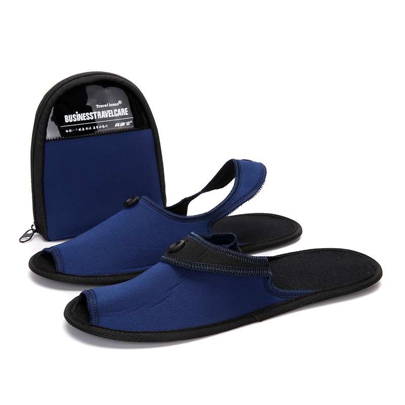 Summer Home Slippers Men Shoes Folding Flip Flops Breathable Slides Men Mules Hotel Trip Indoor Slippers Zapatos De Hombre