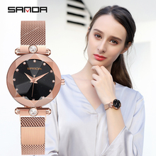 2018 Luxury Brand lady Crystal Watch Women Dress Watch Fashion Rose Gold Quartz Watches Female Stainless Steel Wristwatches P256 new rose watch women black leather water resistant lady jewelry crystal watches quartz wristwatches