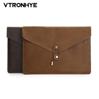 11 12 13 15 Inch Cowhide Leather Laptop Sleeve For Macbook Air 13 Case Pro Retina