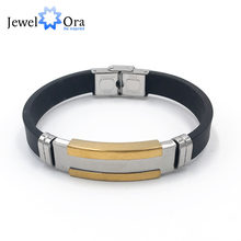 Genuine Leather Bracelet Stainless Steel Men Bracelets Punk Men Anniversary Gift Special Off New Arrivlal (JewelOra BA102247)(China)