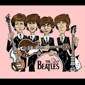 Beatles cute chibi design men short sleeve big size t-shirt  o-neck 100% 180g  ringspun cotton straight cut free shipping