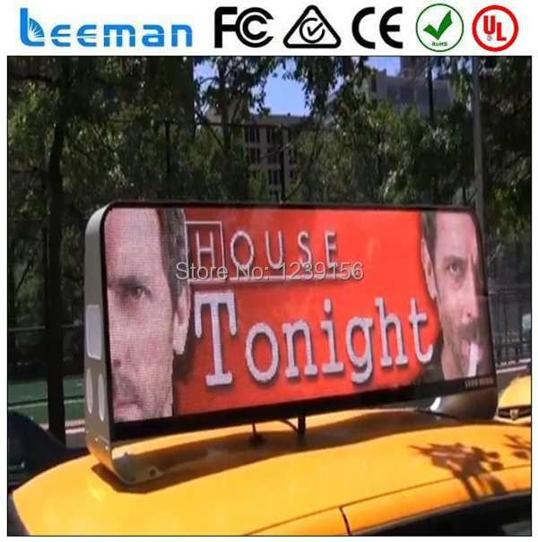 leeman double sided taxi top advertising taxi led sign. Black Bedroom Furniture Sets. Home Design Ideas