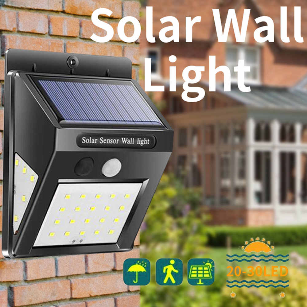 LED outdoor solar sensor lamp automatically wall waterproof