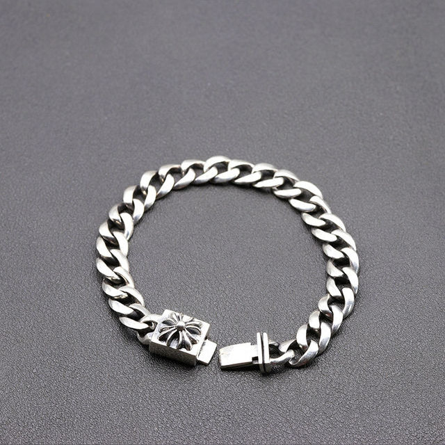 2017 Men jewelry Wholesale Genuine 100% Real Pure 925 Sterling Silver Men bracelet vintage rope chain free shipping fine jewelry