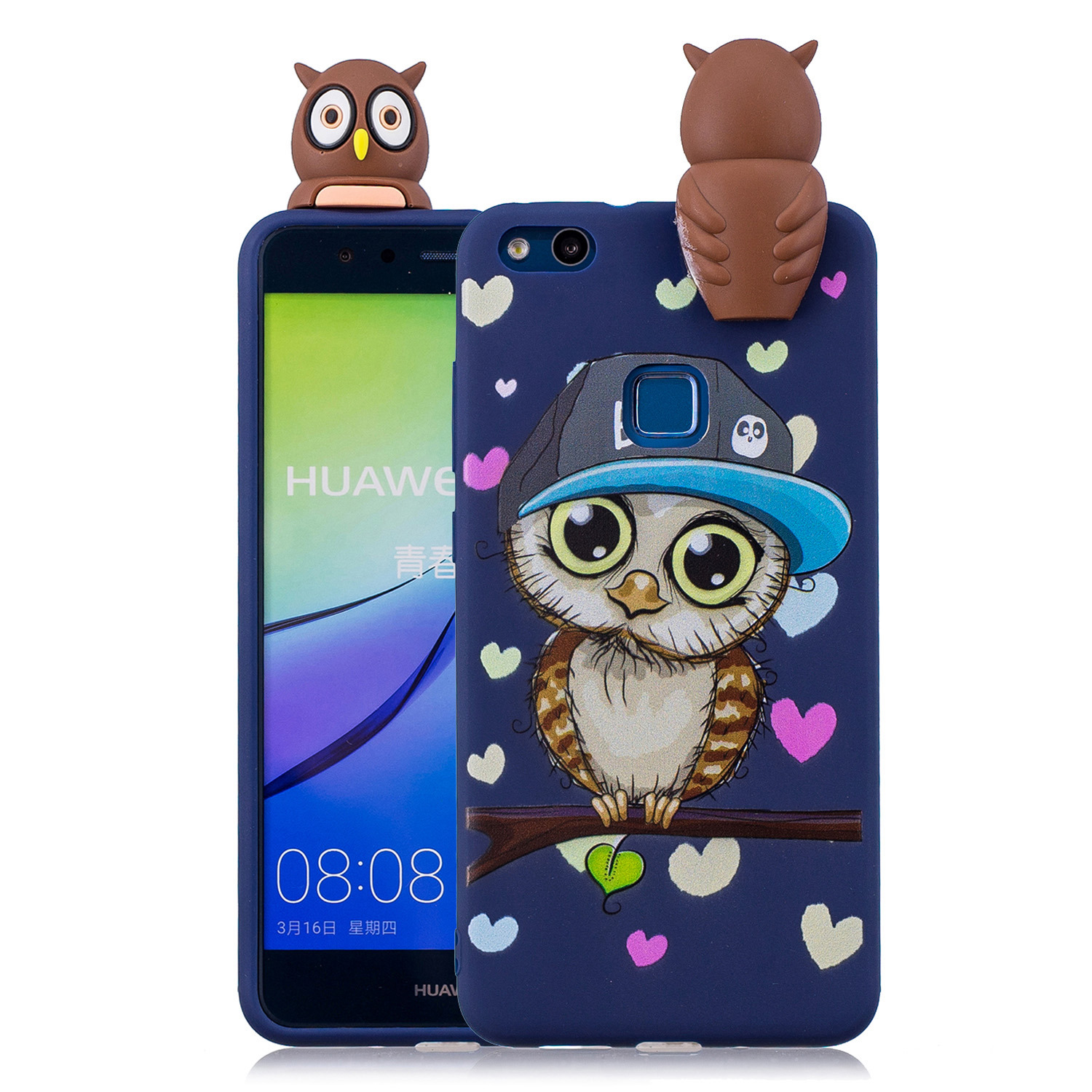 Top environmental protection mobile <font><b>phone</b></font> <font><b>case</b></font> for Huawei p10 lite durable clay soft shell Lovely Cartoon White Squishy cover