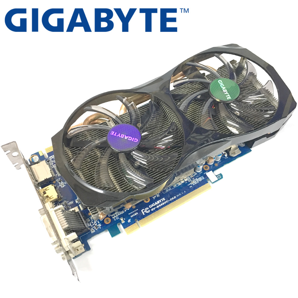 Видеокарта GIGABYTE GTX660 2 Гб 192 бит GDDR5, графические карты для VIDIA Geforce GTX 660 б/у VGA-карты, мощнее чем GTX 750 Ti-2