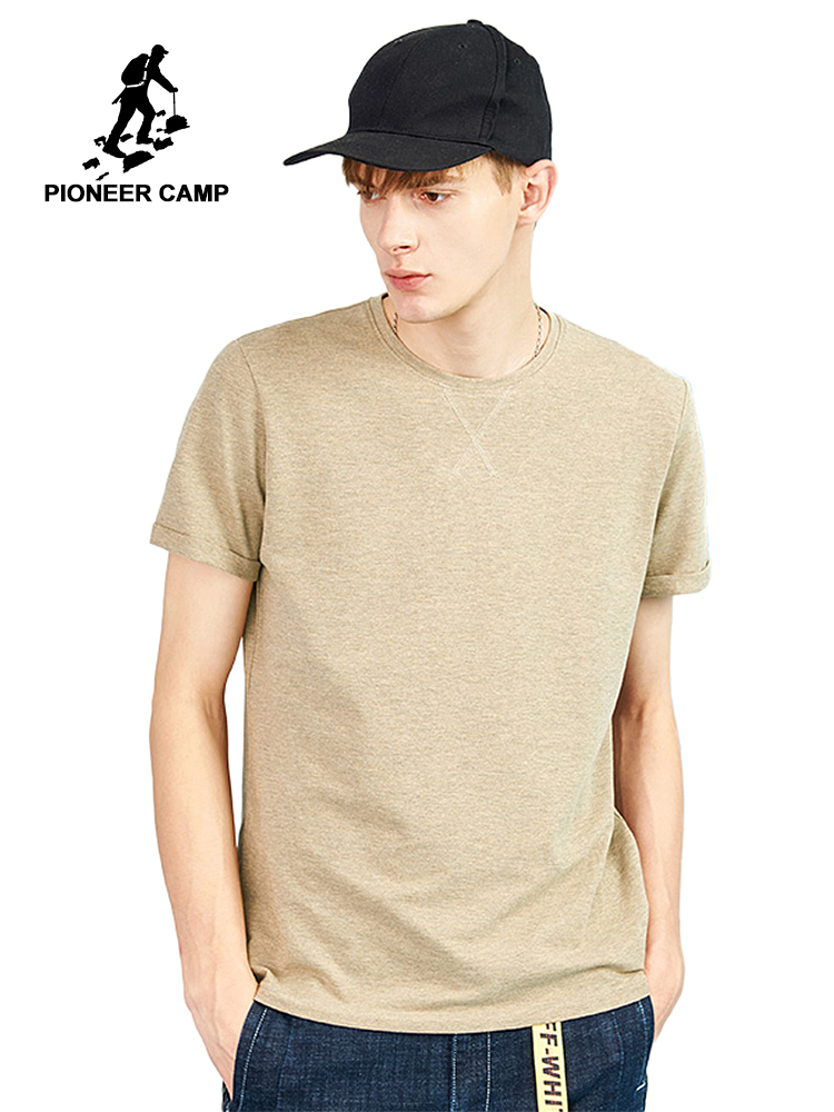 Pioneer Camp new design stylish solid men   T  -  shirt   brand clothing soft smoth thin summer   T     shirt   for men top quality ADT802173