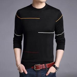Image 3 - Liseaven zimowy sweter męski marka sweter na co dzień męski O Neck Slim Fit Knitting męskie swetry męskie topy