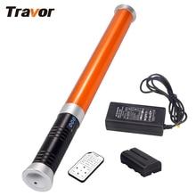 Travor Portable Handheld 298 LED Video Light Magic Tube Light MTL-900 II as icelight for photography lighting