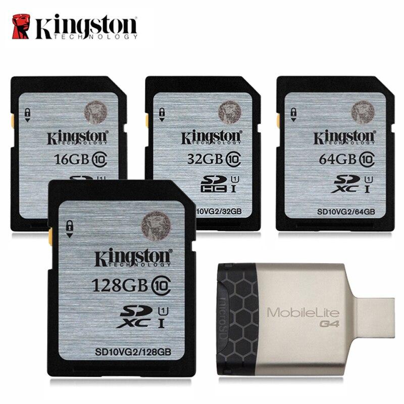 Kingston Cartão SD gb 32 16 gb tarjeta Carte 64 gb 128 gb Cartão de Memória sd 32 gb sd hc /mikro SDXC sd para DSLR Digital HD Câmera Esporte
