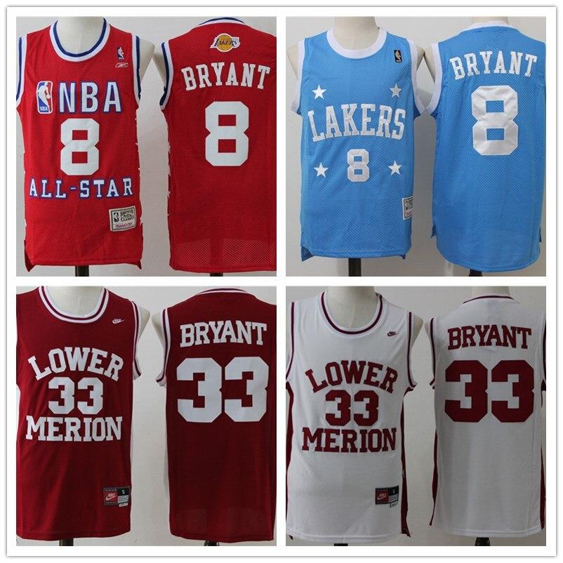 ... Hot sale Mens retro 33 8 Kobe Bryant basketball jerseys Stitched High  quality Jersey free shipping ... 1a9dc87cc