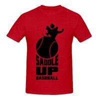 RTTMALL Print Harajuku Short Sleeve Casual Tees Screw Neck Saddle Up Baseball Personality Mens T Shirts
