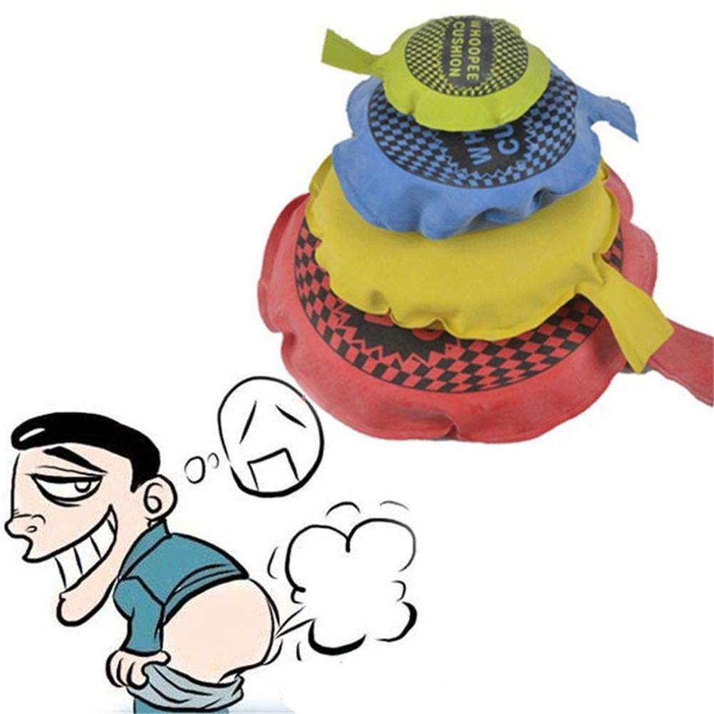 4 Sizes 1Pc Joke Ragging Toy Fart Pad Sponge Whoopee Cushion Novetly Twisted Decompression Vent Boring Toys Anti-stress Relieves