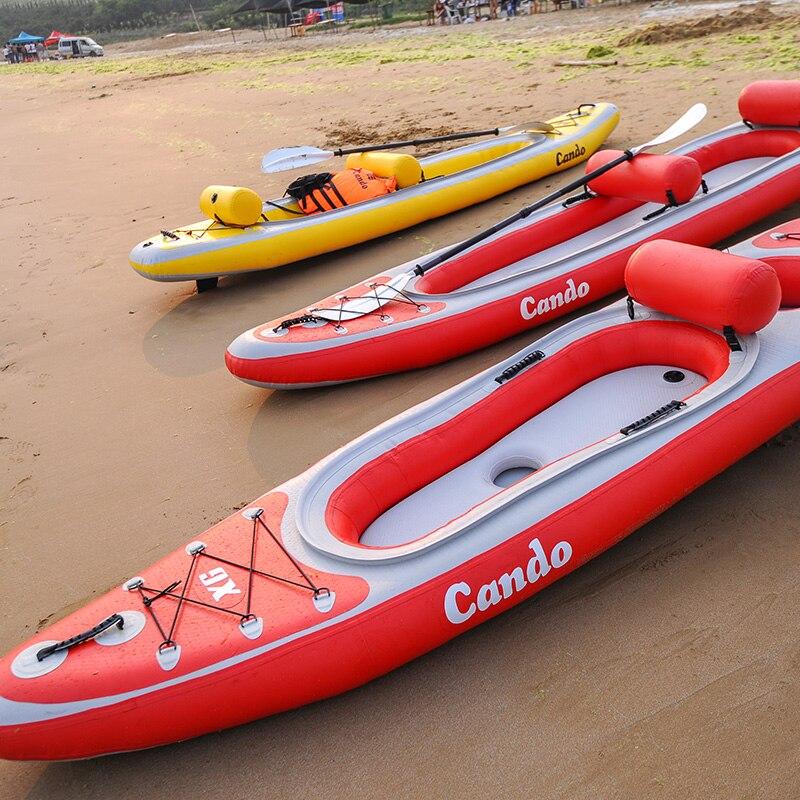 Promoción grande barco kayak inflable con kayak Accesorios 1 par inflable respaldo...
