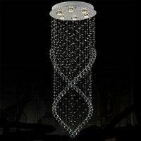 D50*H150cm Modern Circle Ceiling Base Art Deco stair lighting restaurant Hotel lights stairs chandelier Crystal Hanging lustres