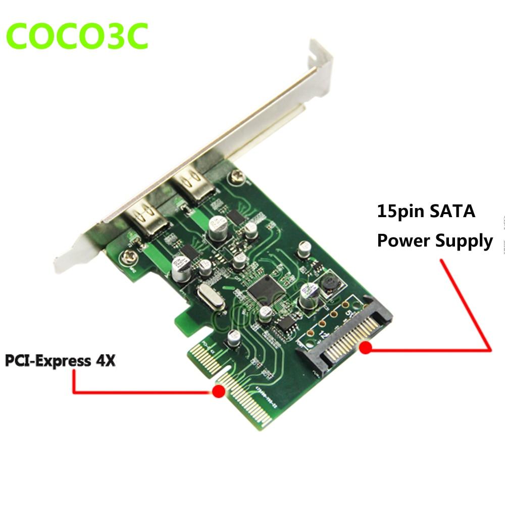 2 puertos USB 3.1 Tipo-C Tarjeta PCI Express + PCIe soporte de perfil - Componentes informáticos - foto 3