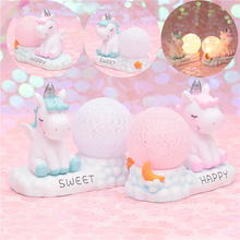 Cartoon Unicorn Night Light Cute Girl Heart Bedroom Decoration Baby Kindergarten Toy Child Christmas Gift