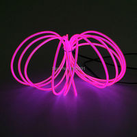 New type 3.2mm 5Meter 10 Colors Optional Flexible EL wire Holiday Lighting neon +DC-5V USB Drives,For Car Interior Decoration