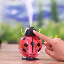 GX02-11,Small ladybug car usb Humidifier incubator diffuser led Mini Air Humidifier Air Diffuser Portable Water Aroma Mist Maker