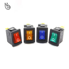 KCD1 On-Off 3Pin Boat Car Rocker Switch 220V Red Yellow Green Blue Button Best Price(China)
