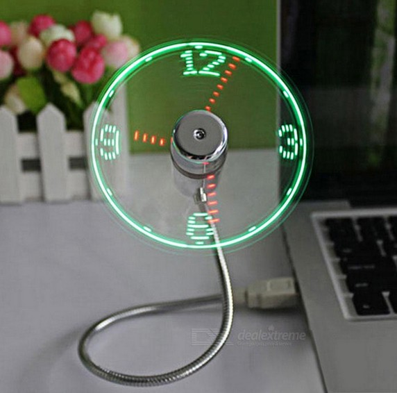 POV Led Display Fan Can Show Time Funny Electronic  Toys