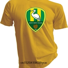 b5394c4bc4a Hot sale men t shirt ADO Den Haag The Hague Netherlands Eredivisie Soccer  Football Yellow T