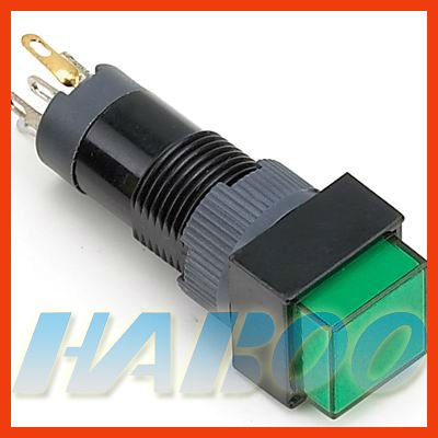 HABOO HBE10 dia.10mm illuminated push button switch reset,momentary with various color led lighting electrical switch 6v 12v 24v