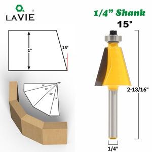 """Image 2 - LA VIE 1 st 1/4 """"Shank 15 Graden 22.5 Graden Afschuining Bevel Rand Router Bit Frees voor Hout houtbewerking Bits MC01027"""