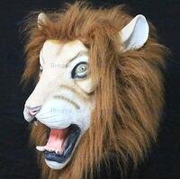 2013 Hot bán Full đầu Awesome Lion Mask Impressive đạo cụ trang phục Realisic Halloween đạo c