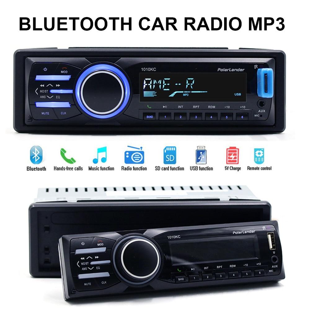 detachable panel Autoradio font b Car b font font b radio b font 1 din Bluetooth