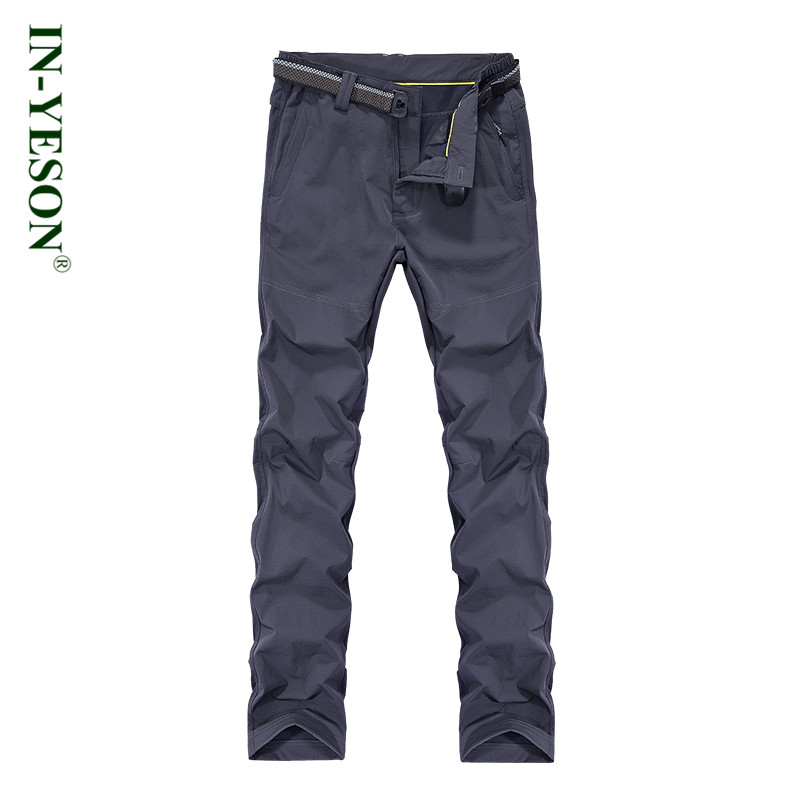 IN-YESON Brand Outdoor Sports Pants Men Hiking Camping Trekking Camping Ski Waterproof Softshell Trousers Plus Size 5XL men warm autumn winter softshell hiking pants waterproof windproof outdoor trousers sports camping trekking fishing pants rm044