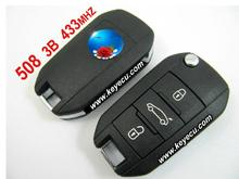 Brand New Remote Key 3 Button 433MHz with ID46 Electronic Chip inside for Peugeot 508 Uncut Blade