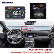 купить Liandlee Car HUD Head Up Display For Mercedes Benz SLK SLC-Class R172 2011-2018 Safe Driving Screen OBD Projector Windshield дешево