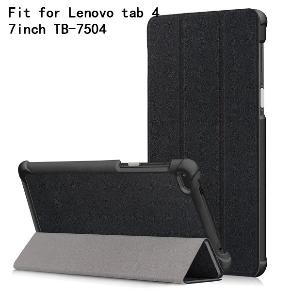 PU Case cover for <font><b>Lenovo</b></font> Tab4 <font><b>Tab</b></font> <font><b>4</b></font> <font><b>7</b></font> inch <font><b>TB</b></font>-7504 <font><b>TB</b></font>-7504F <font><b>TB</b></font>-<font><b>Lenovo</b></font> <font><b>Tab</b></font> <font><b>7</b></font> <font><b>TB</b></font>-<font><b>7504X</b></font>(2017) Smart Cover (2017 release)+gift image
