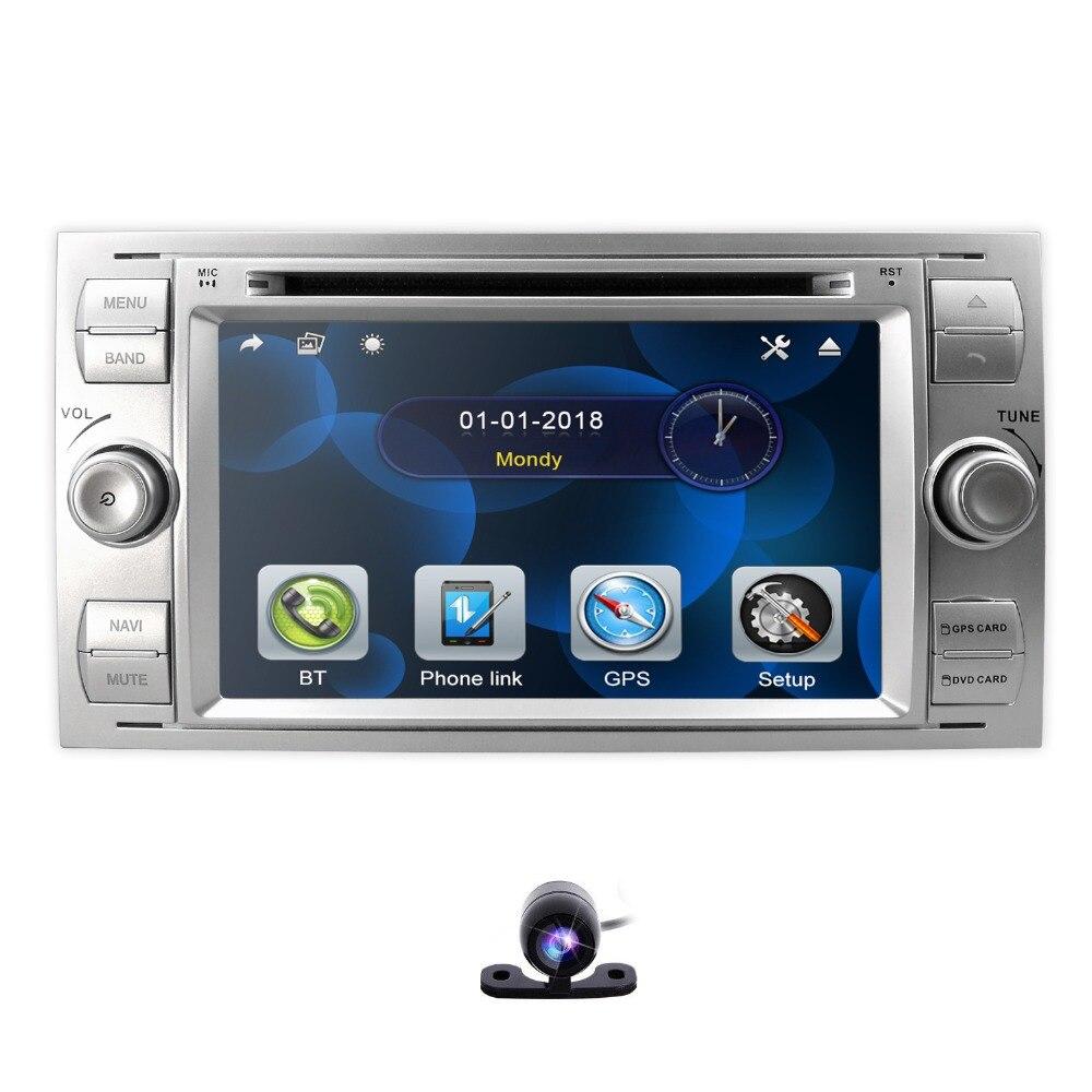 Lecteur DVD MP5 de voiture de commande de roue de conduite de RDS pour Ford Focus/Mondeo/Transit/C-MAX/Fiest GPS DVR DAB + caméra gratuite + carte de carte 8G
