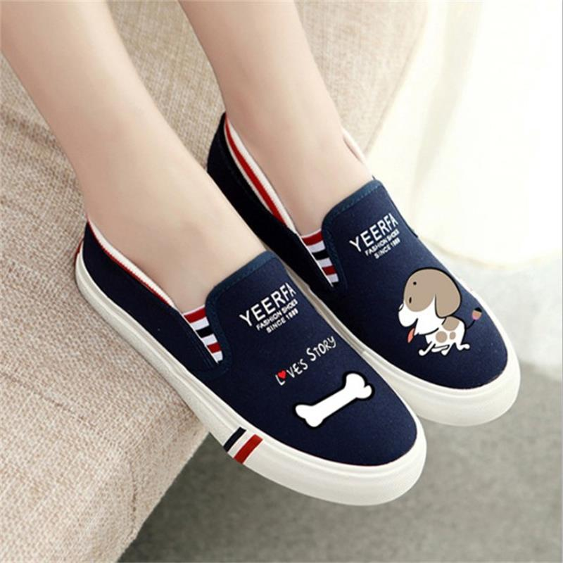 2018 Women Summer Slip-On Breathable Flat Shoes Leisure Female Footwear Fashion Ladies Canvas Shoes Women Casual Shoes HLD919 women flat shoes new spring female casual women shoes slip on flat leisure bowtie bowknot ladies trend fashion shoes size 35 39