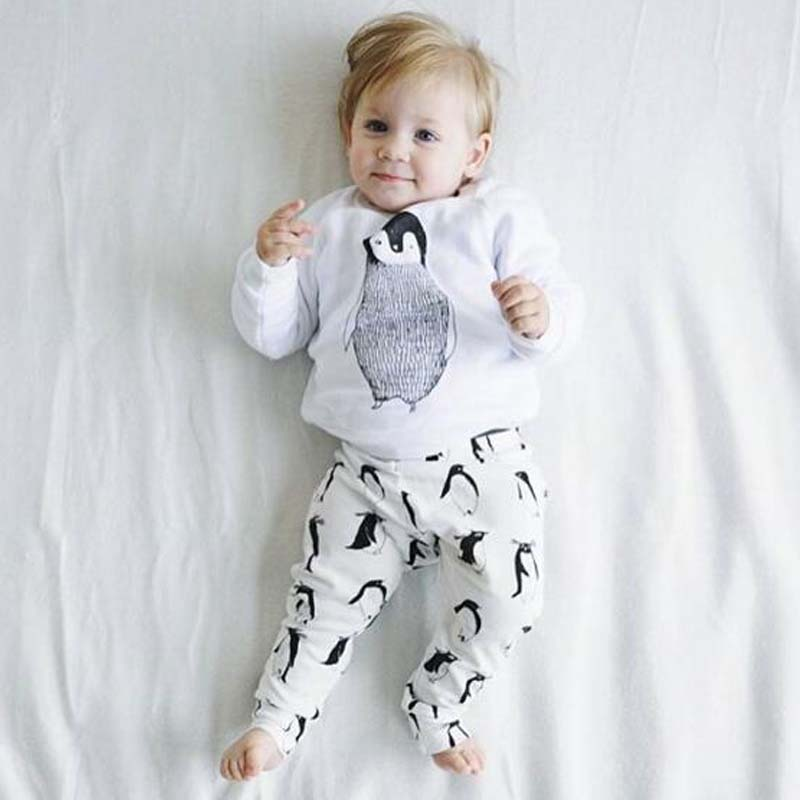 Baby Clothes Cartoon Design Baby Boys/Girls Clothes Spring And Autumn Style Long-Sleeve Top+Pants Children Clothes Sets