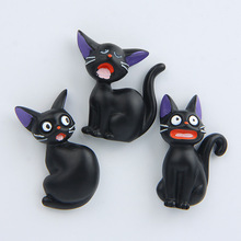 (3 pieces / lot)Miyazaki Anime [Witch Home Delivery] black cat creative three-dimensional refrigerator