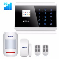 KERUI 3G Wireless Home Office Business Security Alarm System DIY Kit with Auto Dial KR 8219G