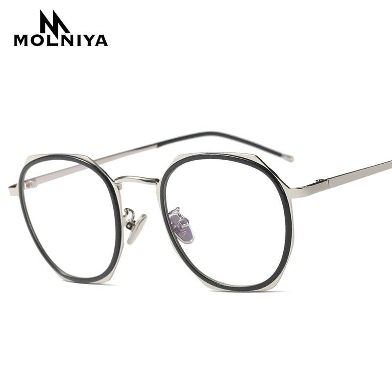 Apparel Accessories Men's Glasses Kehu New Fashion Optical Men Round Frame Glasses Gold Metal Legs Women Eye Glasses Frame K9097