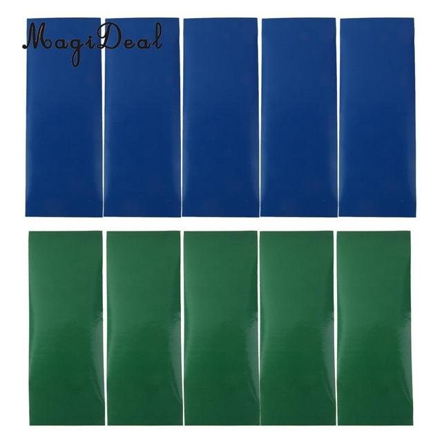 MagiDeal New 5Pc Waterproof Camping Self Adhesive Tent Repair Patch for Ourdoor Hiking Trekking Canvas Tent Accessory Blue/Green