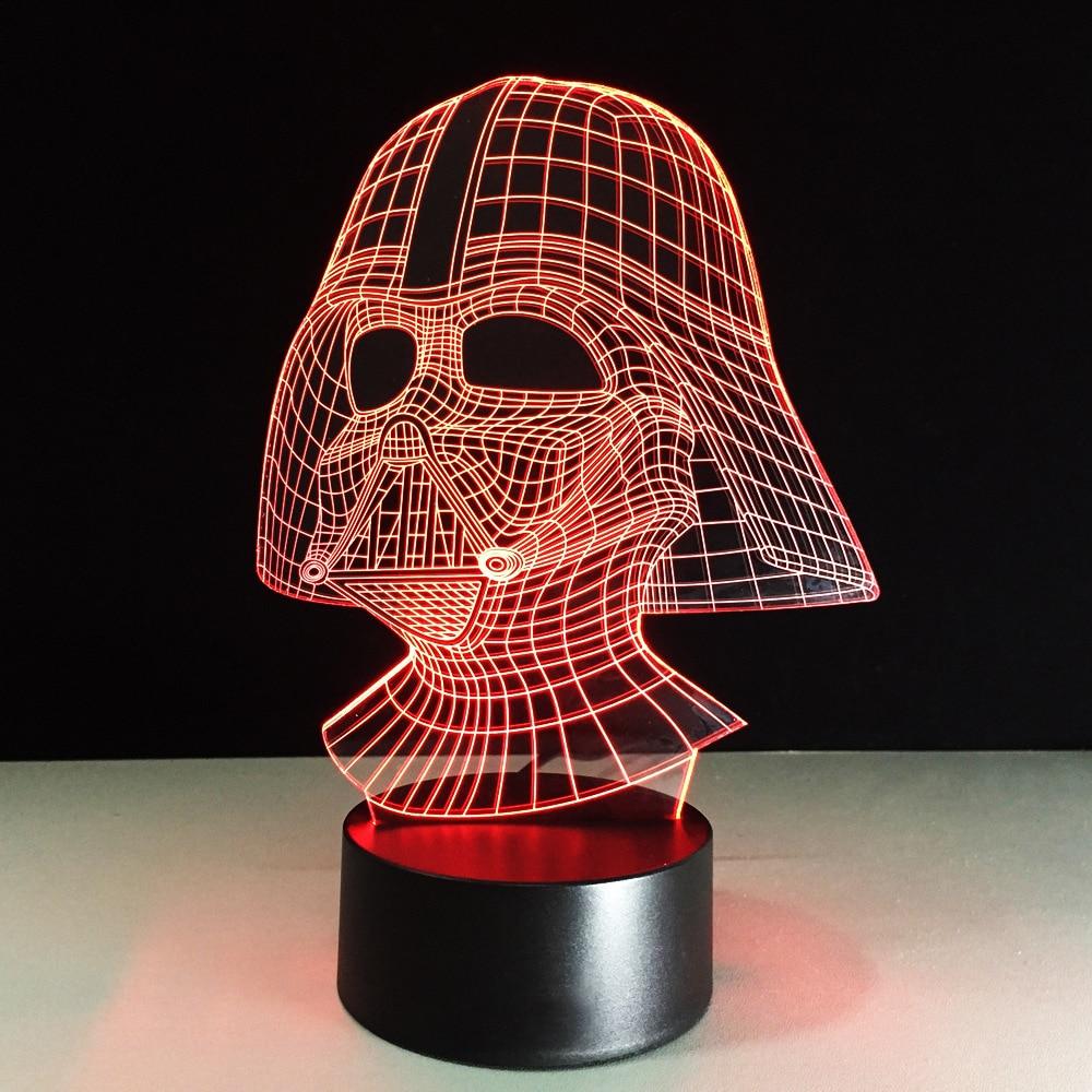 star wars desk accessories with lamp   Aliexpress.com : Buy 7 Color Led Nightlight 3D USB Darth ...