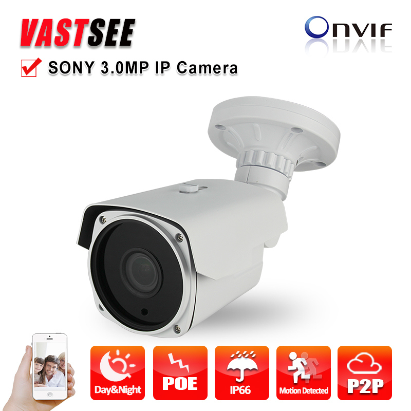 3.0MP Camera IP Full HD 1080P POE SONY Sensor onvif2.4 2.8-12mm Zoom Outdoor waterproof Security cctv Cameras p2p Night Vision