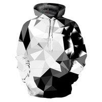 Mr 1991INC New Fashion Argyle Color Blocks Hoodies Men Women 3d Sweatshirts Print White Black Diamonds