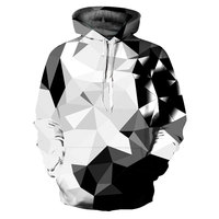 Mr 1991INC New Fashion Argyle Color Blocks Hoodies Men Women 3d Sweatshirts Print White Black Diamonds