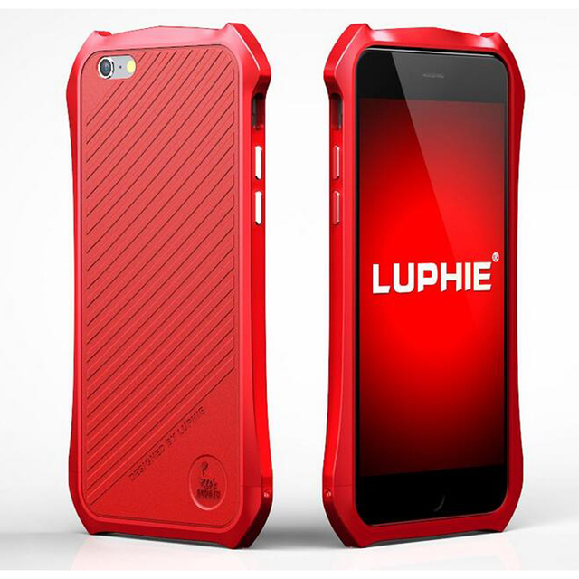 Luphie Metal Bumper Case For iPhone 6S 5S SE Aluminum Metal Frame +Luxury Slim Leather Back Cover For iPhone6s Plus Case