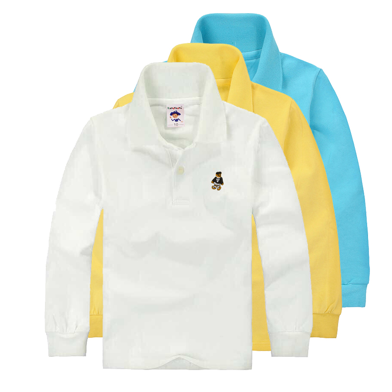 031783a81 High Quality Unisex Boys Girls School Uniform Polo Shirt Kids Baby Toddler  Long Sleeve Spring Autumn Cotton TShirts