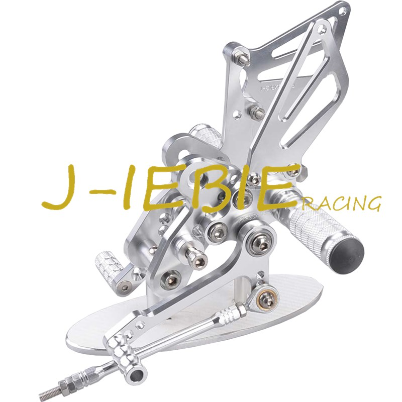 CNC Racing Rearset Adjustable Rear Sets Foot pegs Fit For Suzuki GSXR1300 Hayabusa 1999-2016 SILVER titanium cnc aluminum racing adjustable rearset foot pegs rear sets for yamaha mt 07 fz 07 mt07 fz07 2013 2014 2015 2016